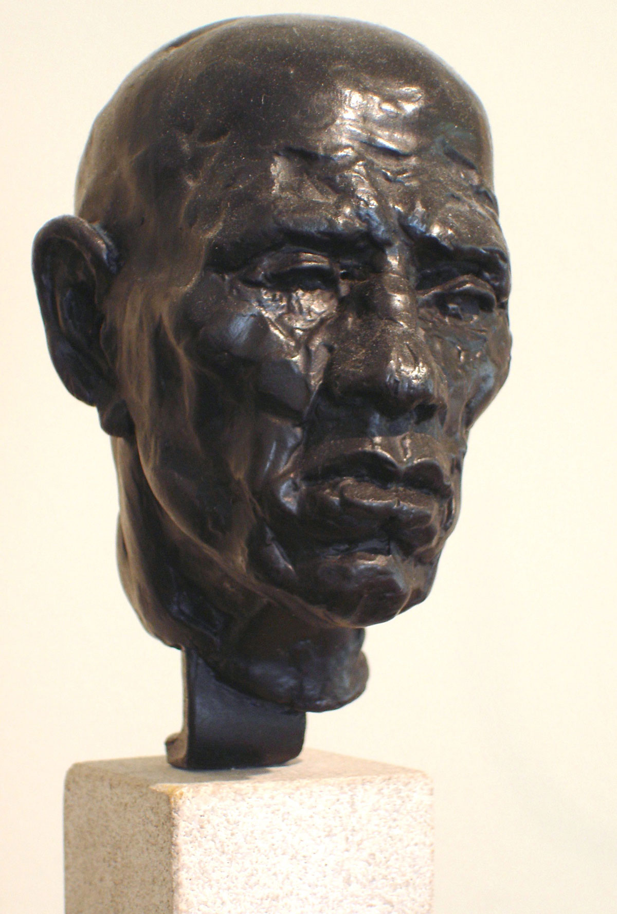 COMPLACENCY Bronze on sculpted limestone
