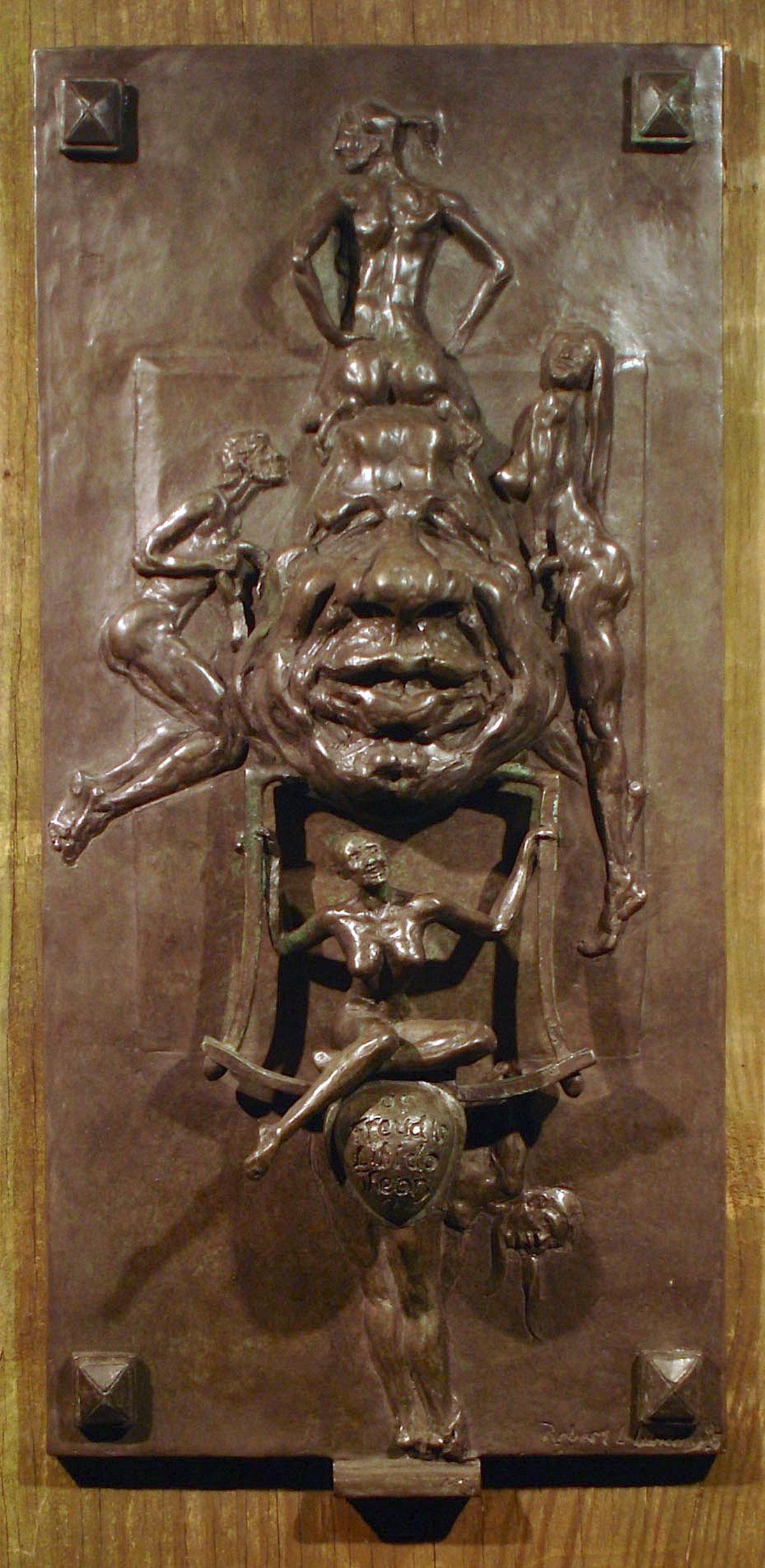 WHAT OF FREUDS LIBIDO THEORY? Bronze High relief (door knocker)